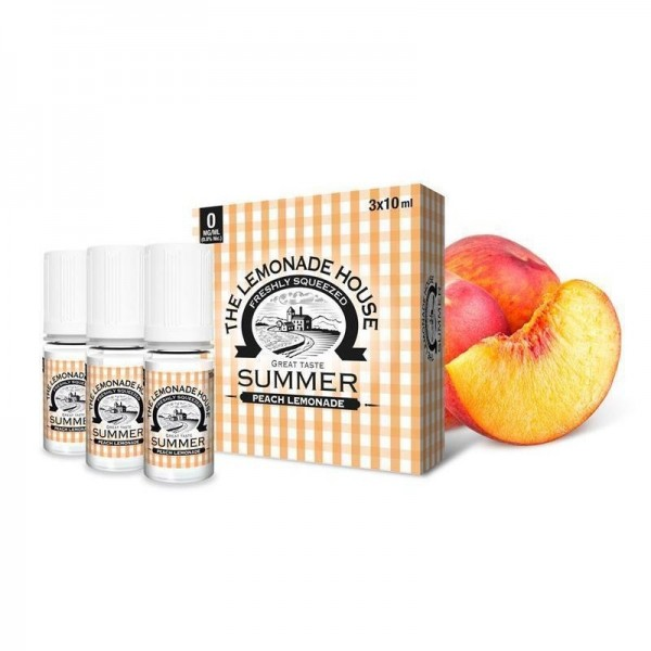The Lemonade House - Summer - Peach Lemonade - 3 x 10ml - 3 mg/ml